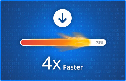 Download files 4x faster